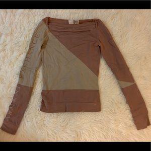 Armani Exchange Violet Gray Color-block Sweater XS
